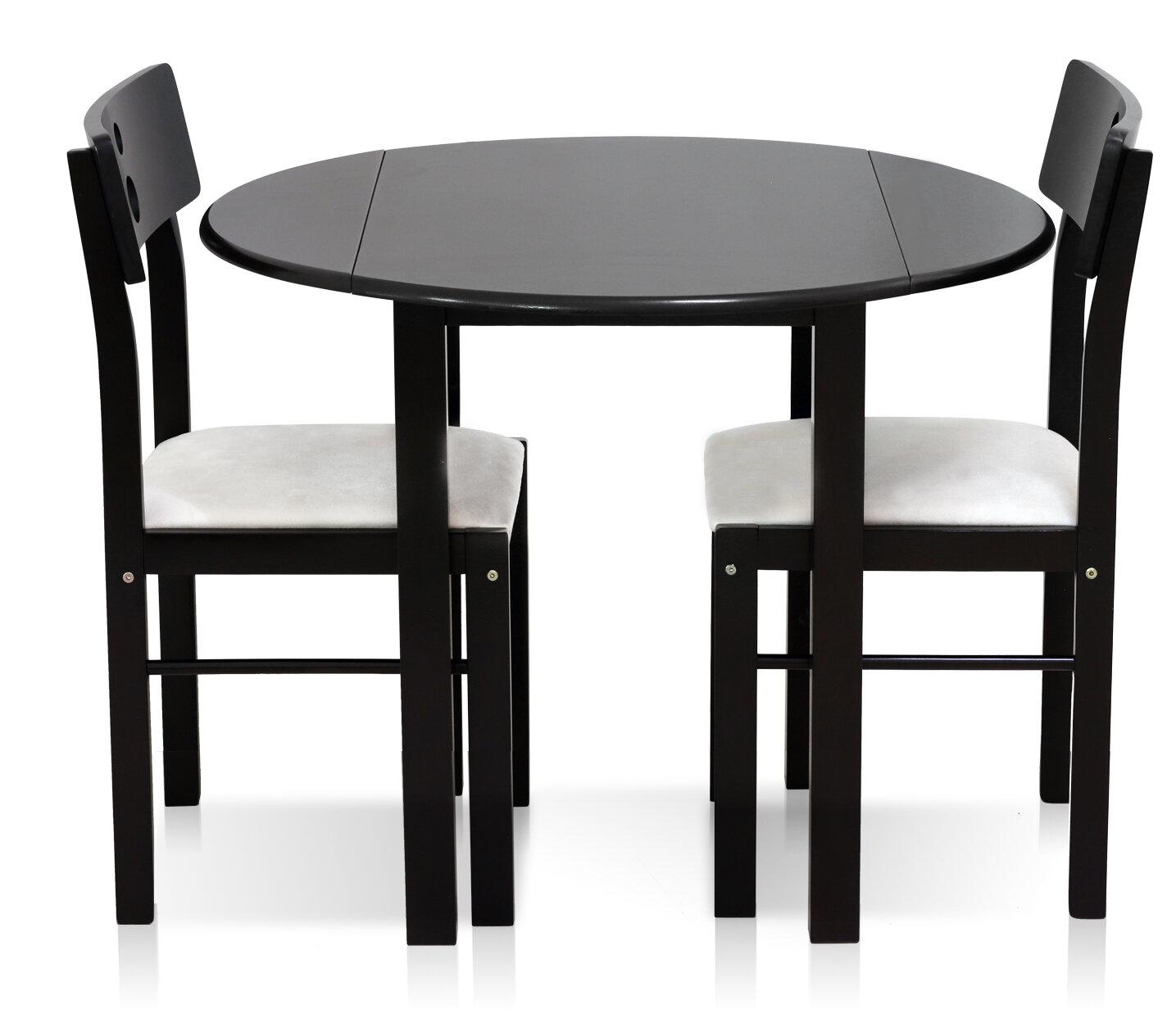Superieur Furinno Cos Drop Leaf Solid Wood 3 Piece Dining Set U0026 Reviews | Wayfair