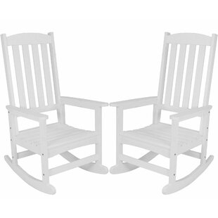 Salgado All-Weather Rocking Chair (Set of 2) Loon Peak