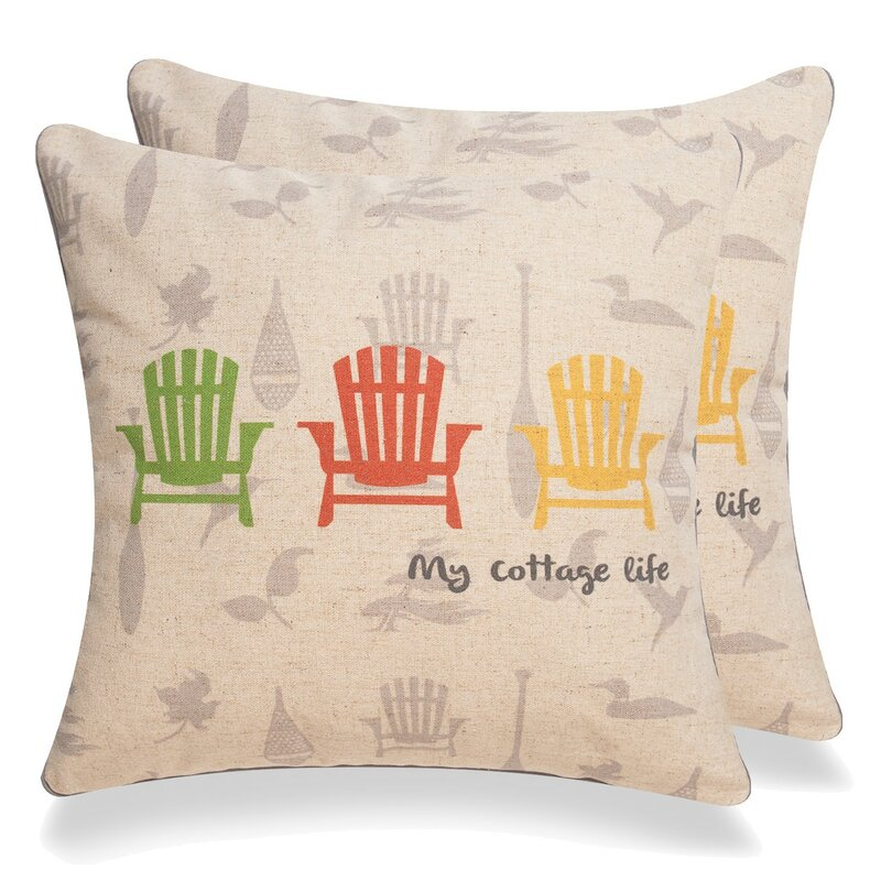 Longshore Tides Albertina My Cottage Life Square Pillow Cover Wayfair