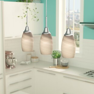 Latitude Run Centralia 3-Light Kitchen Island Pendant