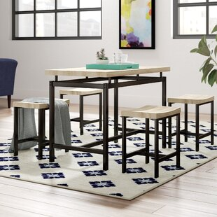 Bryson 5 Piece Dining Set by Wrought Studio Salet