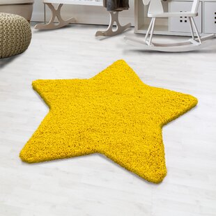 Seabolt Shaggy Yellow Rug By Zoomie Kids