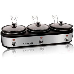 2.5 Qt. Triple Slow Cooker and Buffet Server