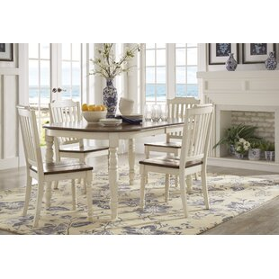 Whiteland 5 Piece Extendable Dining Set Three Posts