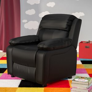Kuna Kids Recliner with Storage Compartment by Viv + Rae