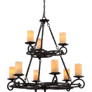 Fleur De Lis Living Clarkson 9-Light Shaded Chandelier