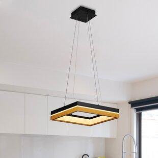 Brayden Studio Pyxis 1-Light LED Square/Rectangle Pendant