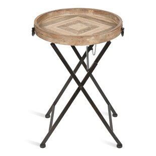Marmora Metal And Wood Tray Table by Kate and Laurel