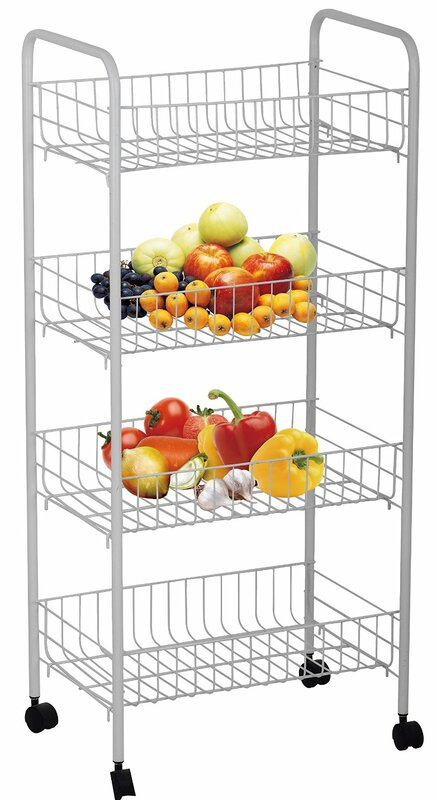 High Quality 4 Tier Rolling Storage Rack