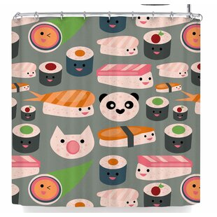 Bruxamagica Kawaii Sushi Single Shower Curtain