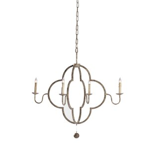 Look for Lewis 4-Light Chandelier By Gabby