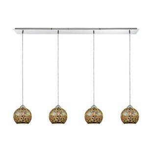 Mercury Row Colophon 4-Light Kitchen Island Pendant