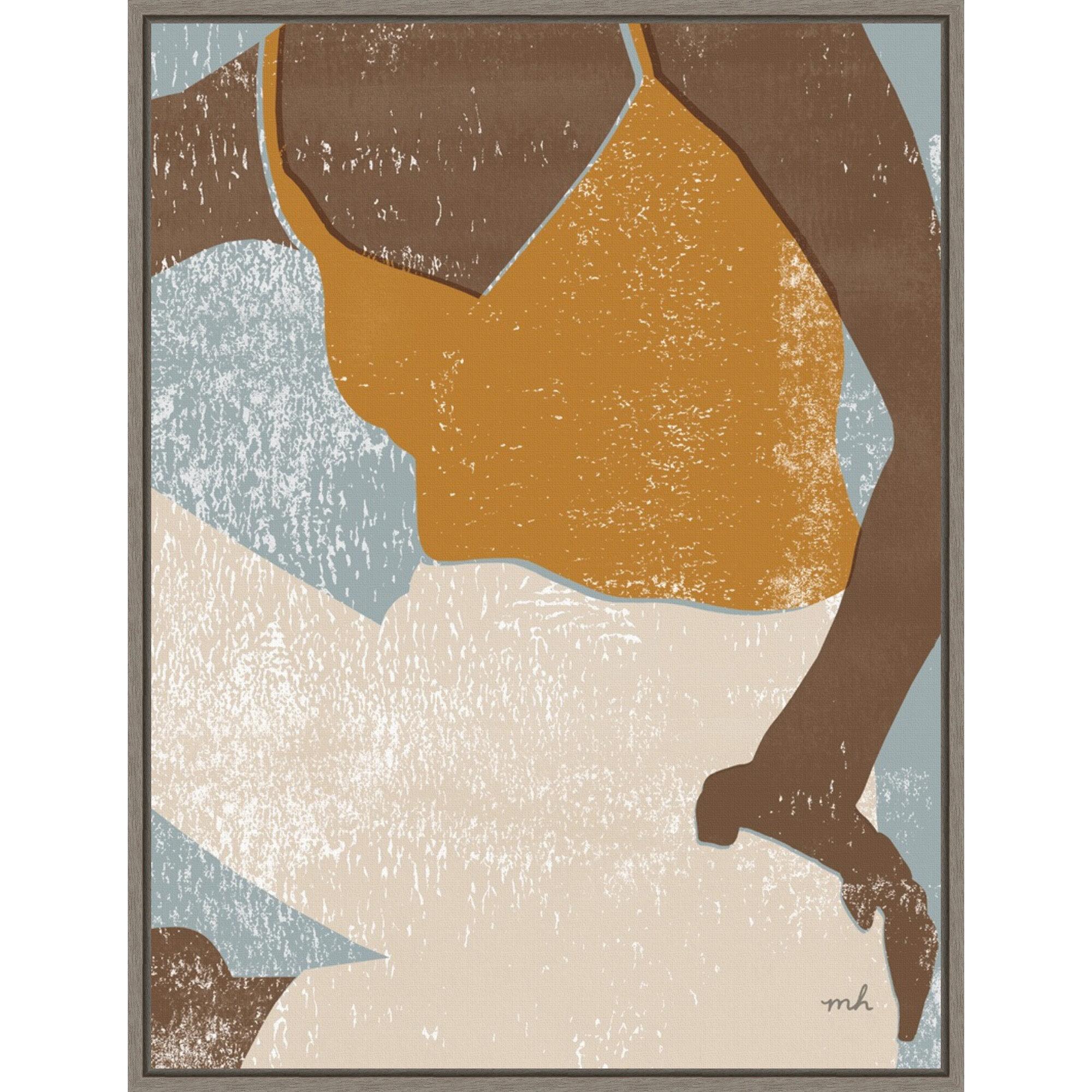Latitude Run Casual Iii By Moira Chocolate Floater Frame Painting Print On Canvas Wayfair