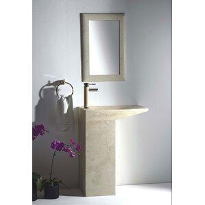 Naples 25 Pedestal Bathroom Sink