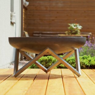 Powhattan Stainless Steel Charcoal/Wood Burning Fire Pit By Sol 72 Outdoor