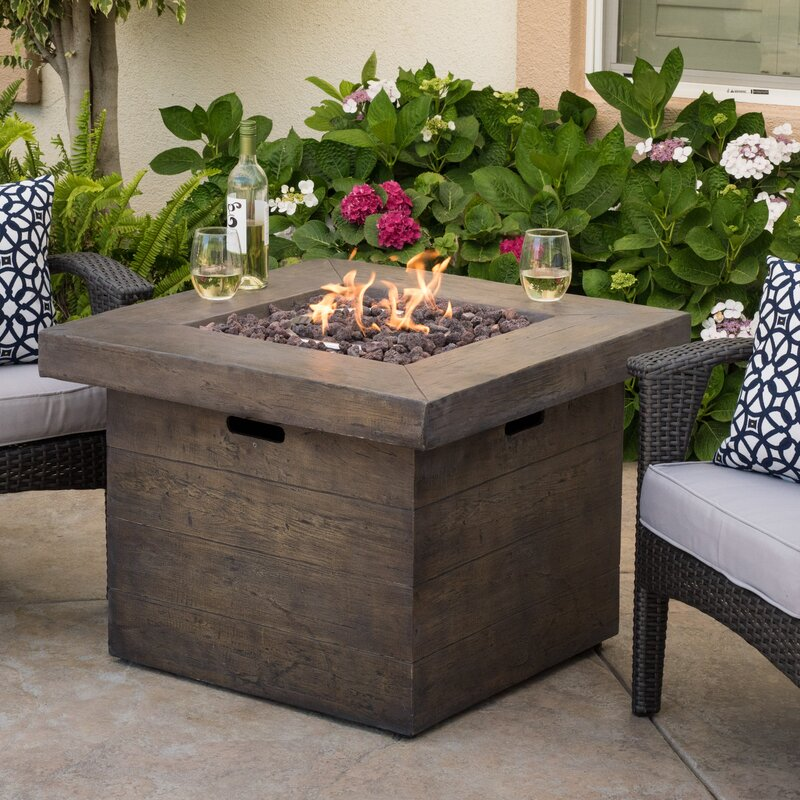 Cali Polyresin Propane Fire Pit Table