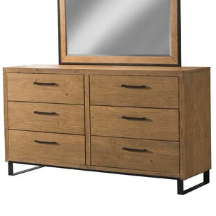 Crestline 6 Drawer Double Dresser by 17 Stories