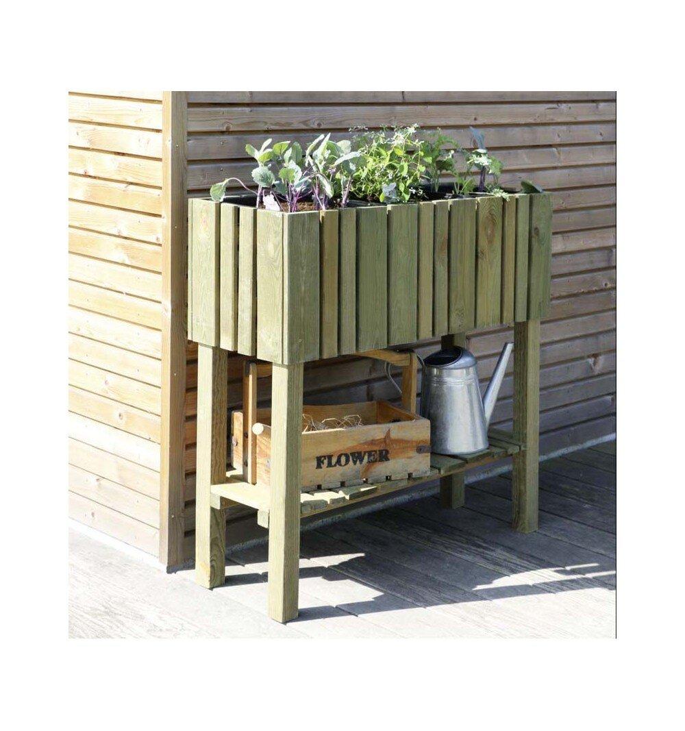 Bisa Wood Elevated Planter