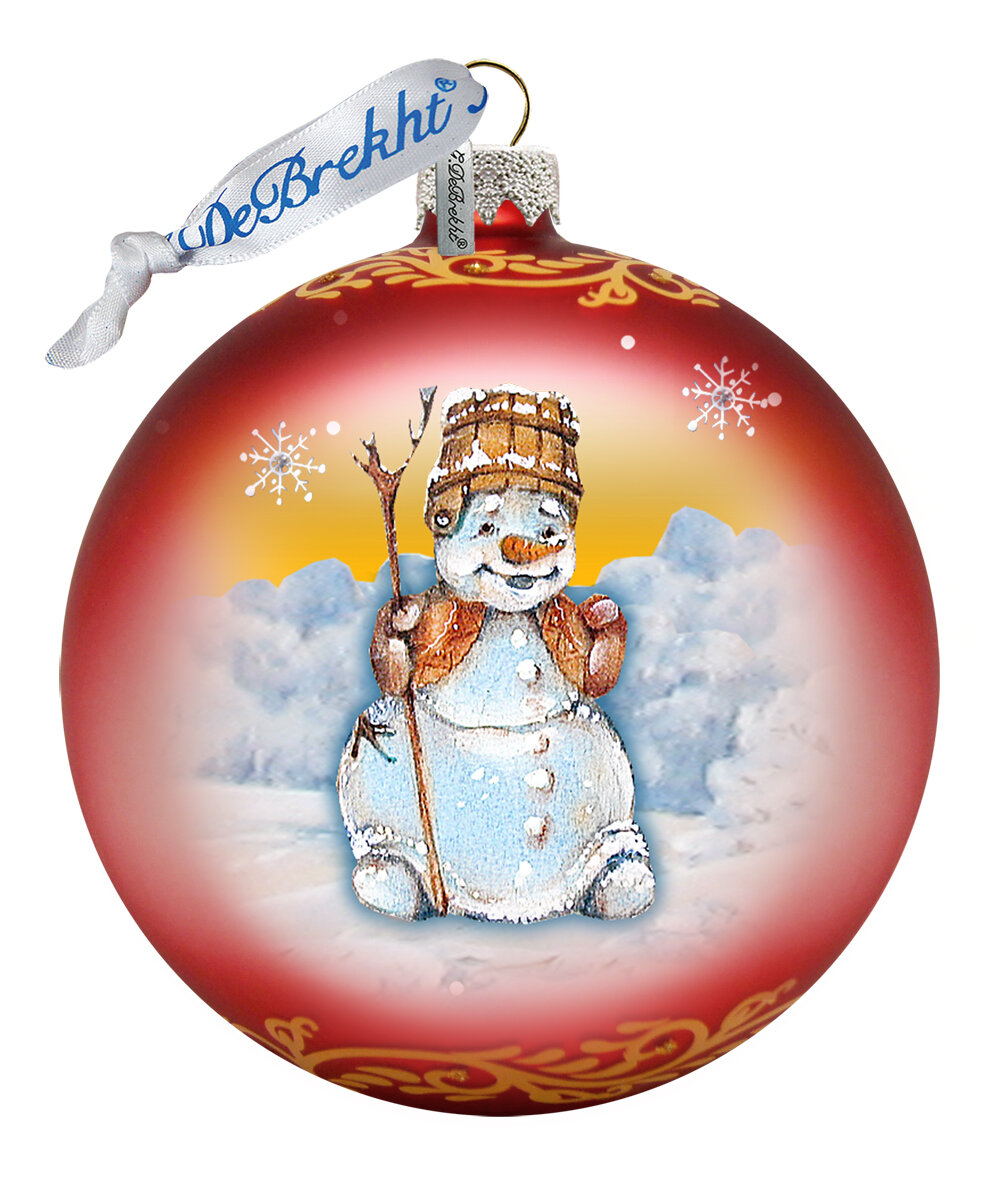 G Debrekht Happy Snowman Ball Ornament Holiday Splendor Collection Wayfair