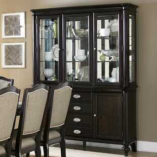Alcott Hill Rheems Lighted China Cabinet