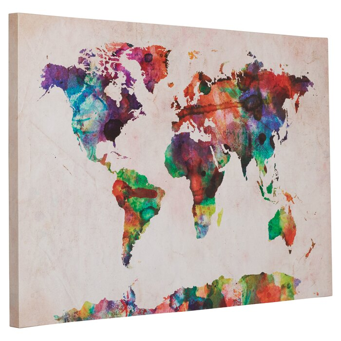 Mistana multicoloured world map framed on beige canvas reviews multicoloured world map framed on beige canvas gumiabroncs Image collections
