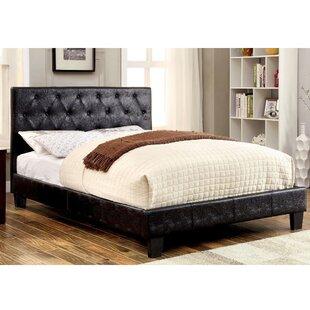 Laniel Tufted Solid Wood and Upholstered Platform Bed