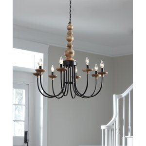 Tatem Metal 8-Light Candle-Style Chandelier