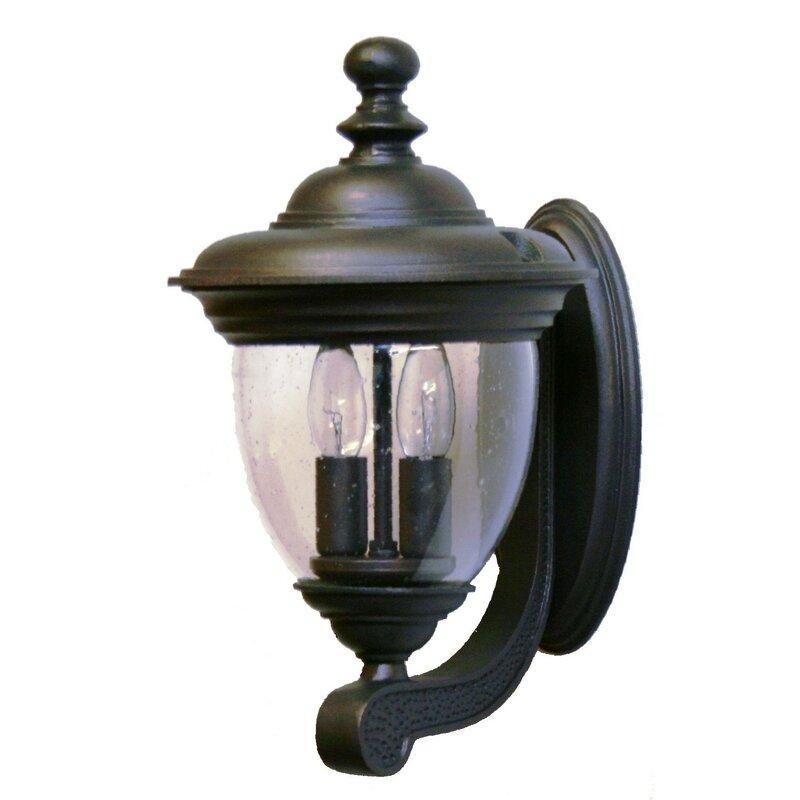 Alcott Hill Phillipstown 2 Light Outdoor Wall Lantern Wayfair