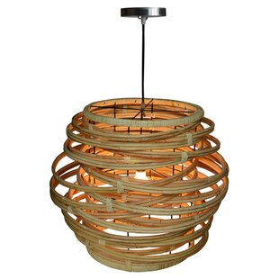Jeffan Oceola Rattan 1-Light Novelty Pendant