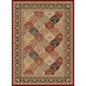 Clarence Red/Beige Area Rug