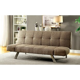 Brayden Studio Dockins Tufted Futon Convertible Sofa