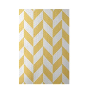 Geometric Yellow Indoor/Outdoor Area Rug By e by design