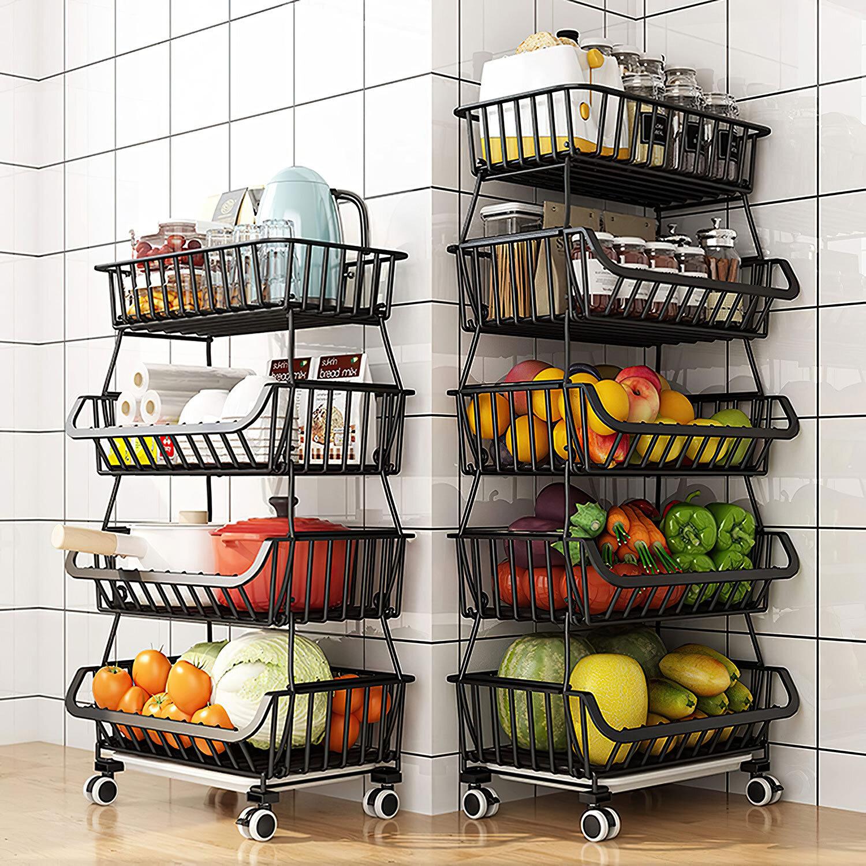 Prep Savour Fruit Vegetable Produce Metal Storage Bin For Kitchen Pantry Bathroom Garage Wayfair