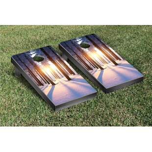 Victory Tailgate Snowy Sunset Cornhole Game Set