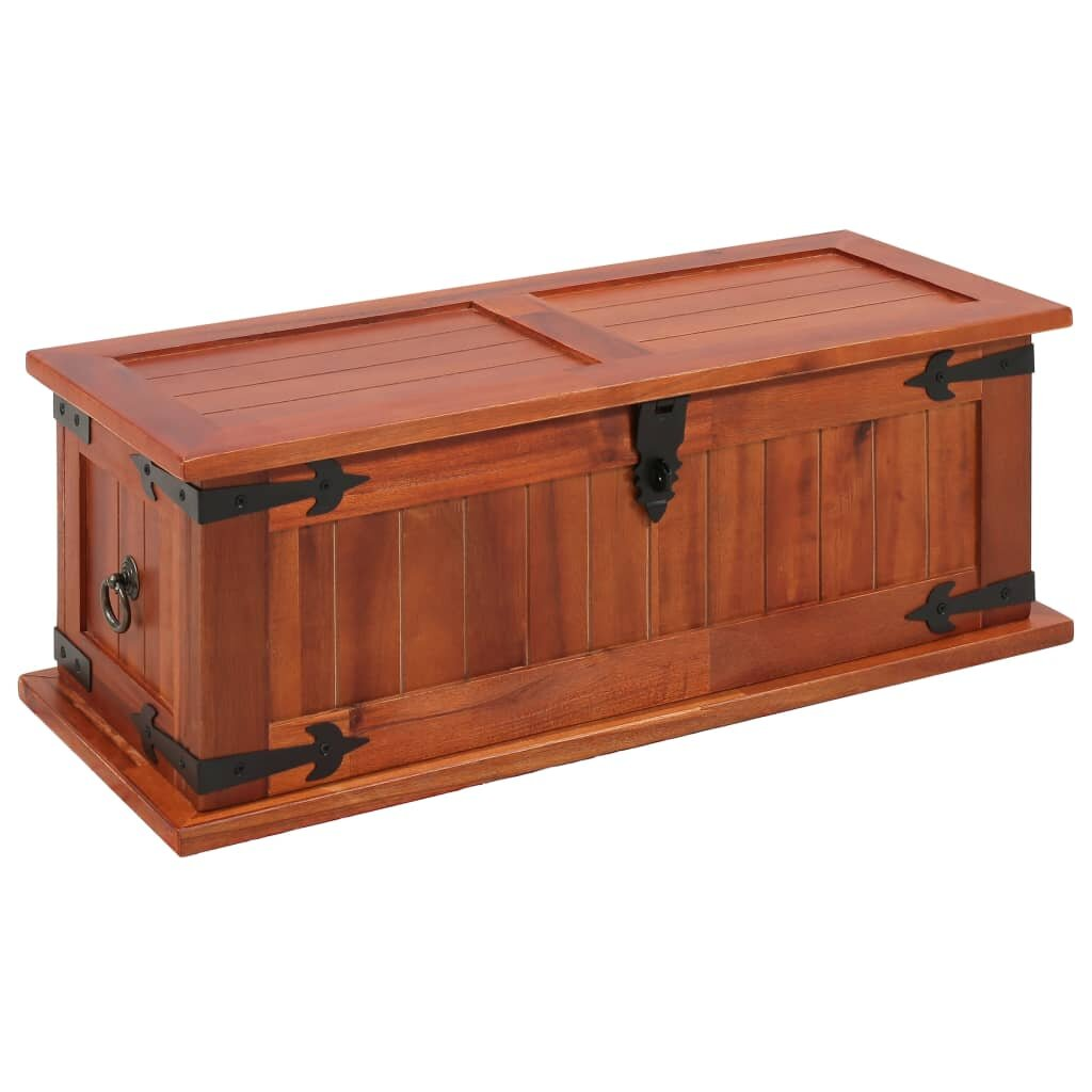 Millwood Pines Minnich Solid Acacia Wood Toy Box