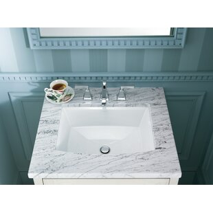 Kohler Archer Ceramic Rectangular Undermount Bathroom Sink with Overflow