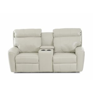 Red Barrel Studio Chau Solid Power Reclining Loveseat with Console
