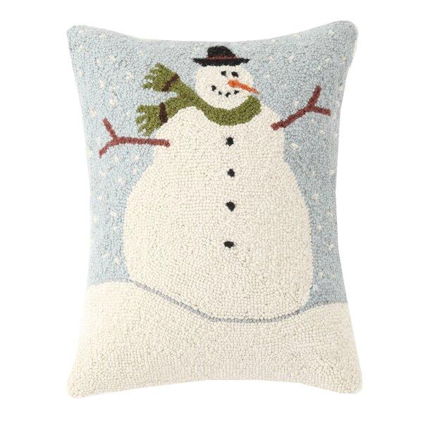 Warren Kimble Snowman Hook Wool Lumbar Pillow Reviews Wayfair