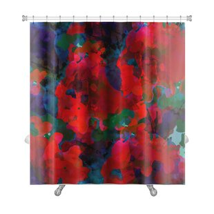 Art Alpha Floral Watercolor Abstract Premium Single Shower Curtain