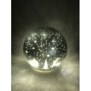 12 Warm White Crackle Effect With Woodland Reindeer Lamp By The Seasonal Aisle