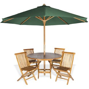 Masonville Traditional Teak 6 Piece Dining Set
