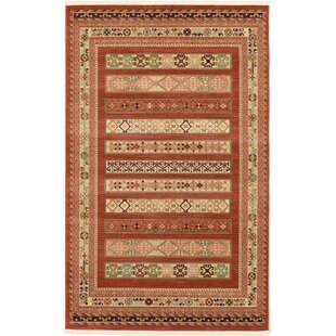 Great choice Foret Noire Rust Red Area Rug ByWorld Menagerie