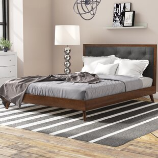 Dewsbury Mid Century Queen Upholstered Platform Bed