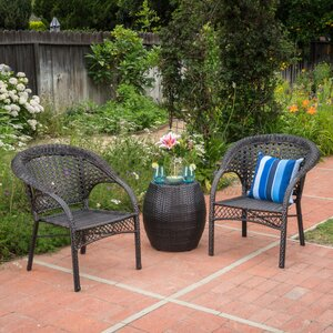 Ambrosia Outdoor Rattan 3 Piece Conversation Set