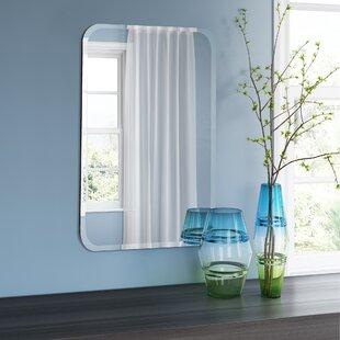 Tisdale Frameless Oblong Wall Mirror
