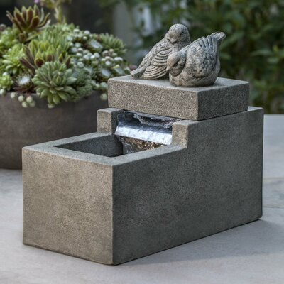 Image of Reales Concrete with Birds Fountain August Grove Finish: Graystone