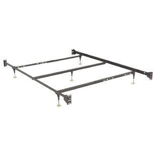 Metal Bed Rails Keyslot Frame with Bolt-On Headboard Brackets