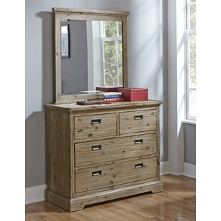 Elise 4 Drawer Dresser and Mirror