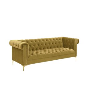 Bea Velvet Chesterfield Sofa by Chic Home Fu..