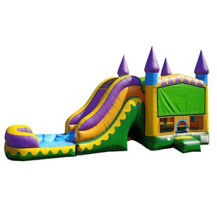 JumpOrange Jungle Zoo Titan Inflatable Water Slide Combo Bounce House